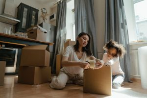 Hire professional packing services when moving from NYC with kids