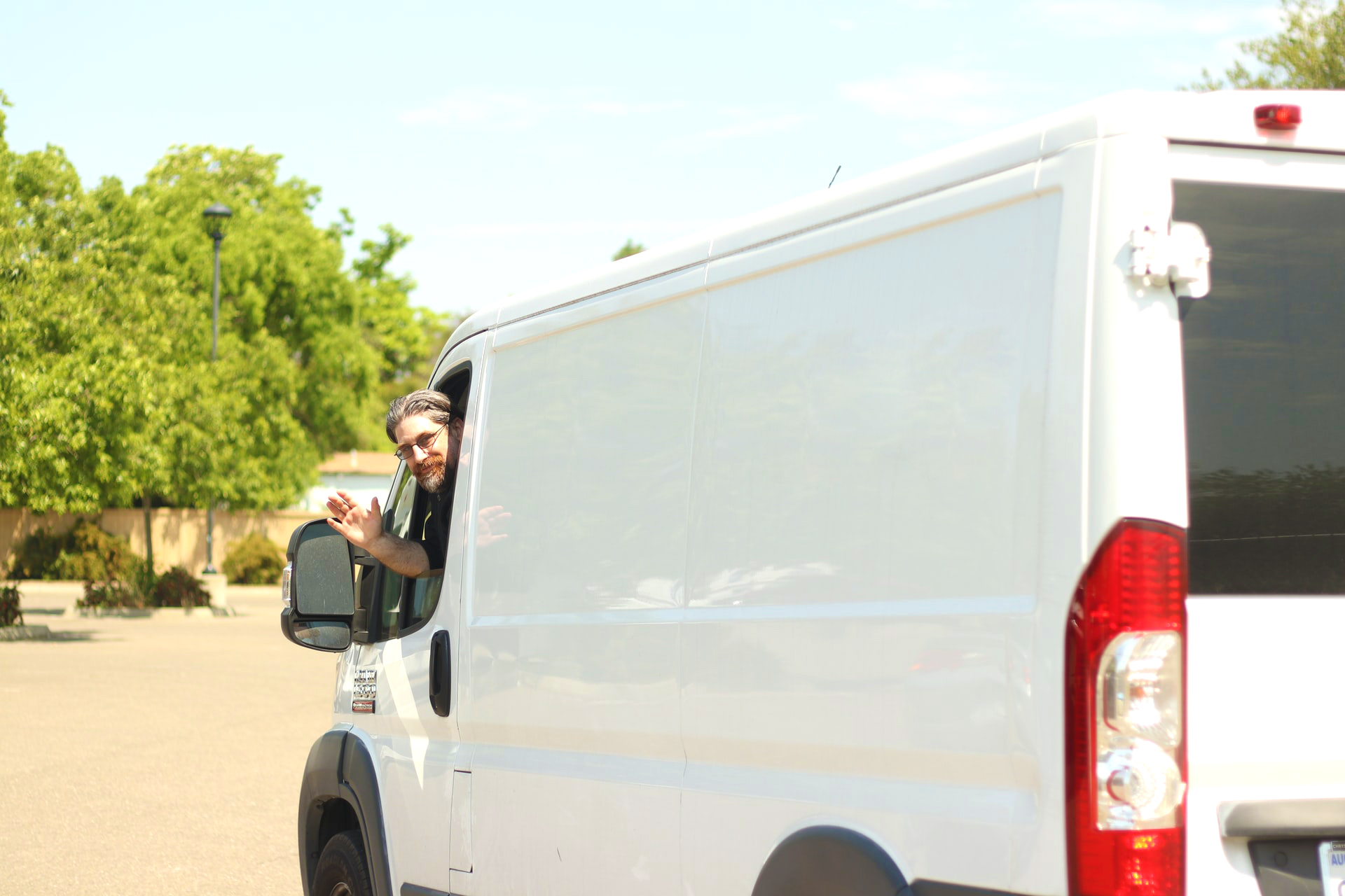 a van driver trying to get ready for a local move