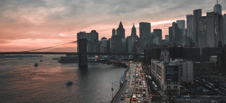 a panoramic view of the city of New York where you can utilize Manhattan storage tips