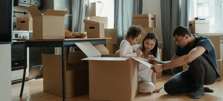 A family moving from the suburbs to the city