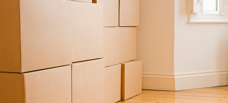 a stack of boxes