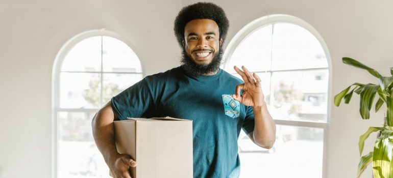 A man working in a moving company