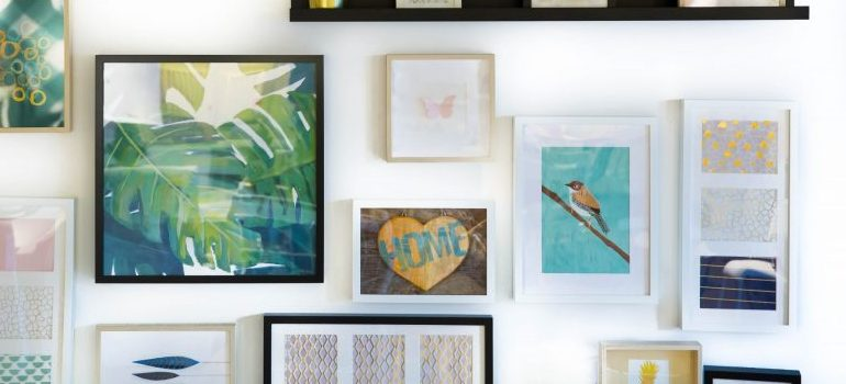 art on the wall - a great way to make your new place feel like home