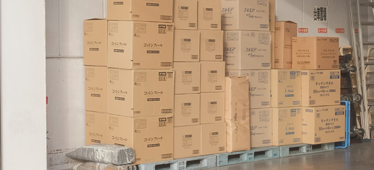 boxes with items you can't keep in your storage unit
