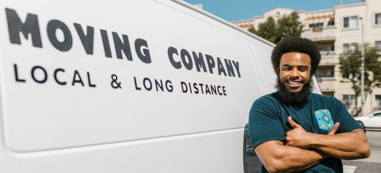 """a blank moving company van symbolizing that there is no """"perfect"""" way to tip your movers"""